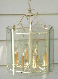 Farm Chandelier Vintage Tole Lantern Chandelier Hanging Light Fixture Or Lamp