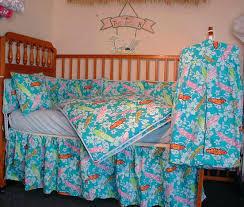 Seashell Crib Bedding Decoration Seashell Crib Bedding Made Baby 6 Sets