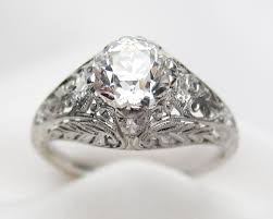 deco engagement ring vintage engagement rings isadoras antique jewelry