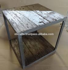 industrial coffee table made with reclaimed railway sleeper