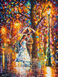 dream wedding palette knife oil painting on canvas by leonid