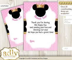 minnie mouse thank you cards minnie mouse thank you cards for a baby minnie shower or birthday