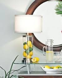 fillable glass cylinder collector u0027s table lamp u2026 love this idea
