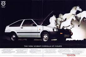 hooniverse fastback friday u2013 vintage ads 1984 toyota corolla gt