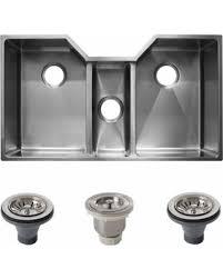 Triple Basin Kitchen Sink by Amazing Deal On Ticor 36 Inch 16 Gauge Stainless Steel Triple Bowl