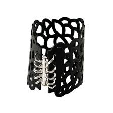rubber cuff bracelet images Design your own jewelry not for sale organic cell laser cut jpg