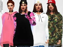 the sims resource oversized hoodie collection by