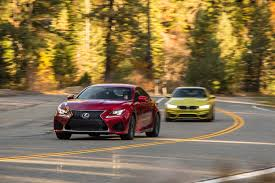 lexus rc 200t 2015 bmw m4 vs 2015 lexus rc f comparison motor trend