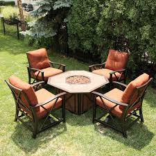 patio furniture with fire pit table interior delightful outdoor furniture set with fire pit 24 patio