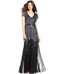 papell dresses papell cap sleeve beaded sequined gown dresses women