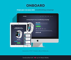 responsive bootstrap template for crowdfunding campaigns u2013 onboard