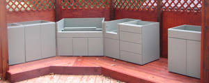 outdoor kitchen cabinets kits home improvement outdoor kitchens kits