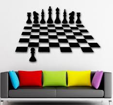 home decor free shipping 2016 new wall stickers vinyl decal chess intelligent game great home