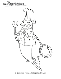 fish chef coloring page a free ocean coloring printable