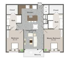 Master Bedroom Bath Floor Plans by Elan Heights Texas Apartment Floor Plans Plans