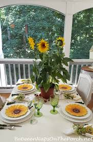 sunflower centerpiece table with sunflower centerpiece sunflower plates and