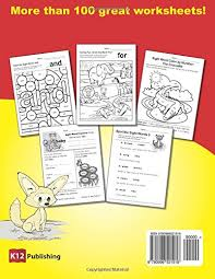 amazon com dolch sight words practice book 1 fun and