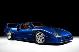 blue f40 forget rosso corsa this f40 proves all ferraris should be blue