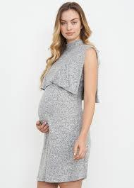 maternal america kimono maternity nursing dress in grey by maternal america