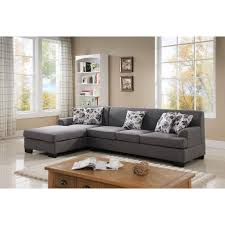 Colored Sectional Sofas by 2 Piece Grey Linen Sectional S0073 2pc The Home Depot