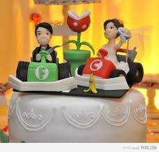 themed wedding cake toppers mario kart themed wedding cake topper pic global news