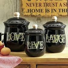 primitive kitchen canisters country kitchen canisters 3 live laugh canister set