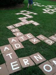 backyard scrabble tiles home outdoor decoration