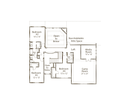 monticello second floor plan the estates at hastings ridge at kinder ranch 90 6554s 1