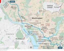 Smithsonian Map A Tour Of A Changing Capital A Walk Across Washington