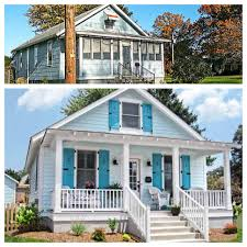 before and after curb appeal restore and open up porch add