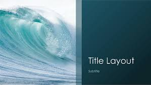 powerpoint templates free download ocean ocean waves nature presentation widescreen office templates