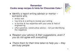 technical report writing chocolate cake k christian