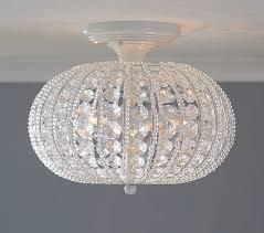 Ceiling Mount Chandelier Light Fixture Clear Acrylic Flushmount Chandelier Pottery Barn