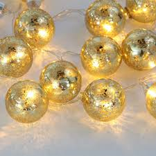 Vintage Globe String Lights by Amazon Com Set Of Of 20 Gold Speckled Mercury Glass Decorative