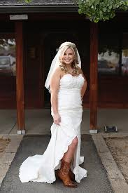 wedding dresses that go with cowboy boots rustic country wedding