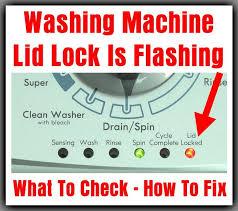 whirlpool ice maker red light flashing lid lock light flashing blinking on top load washing machine how