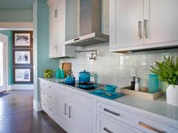 nice modern design galley kitchen off white cabinets subway tile