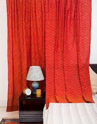 buy fabindia rust cotton mangalgri printed kripa curtain online