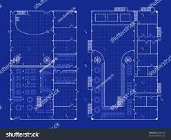 nightclub floor plan floorplan nightclub stage bar blueprint style stock vector 67085578