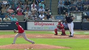 bos nyy judge blasts three run homer to right field youtube