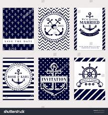 nautical wedding party nautical wedding invitation cards sea theme stock vector 393175519