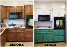 Painted Kitchens Cabinets Remodelaholic Diy Refinished And Painted Cabinet Reviews