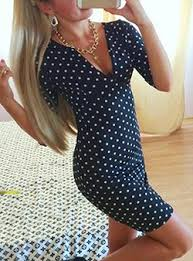blue polka dot dress dresshead