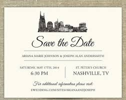 wedding invitations johnson city tn nashville skyline wedding invitation sample only nashville