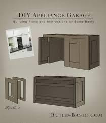 garage door for kitchen cabinet build a diy appliance garage build basic