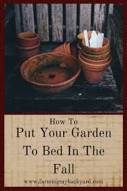 how to put your garden to bed in the fall farming my backyard