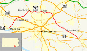 Pennsylvania Attractions Map by Pennsylvania Route 772 Wikipedia
