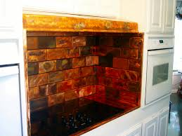 Copper Kitchen Backsplash Ideas Copper Backsplash Gallery The Copper Backsplash Company
