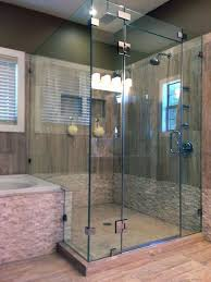 modern bathroom with corner glass shower cleaning tips for your