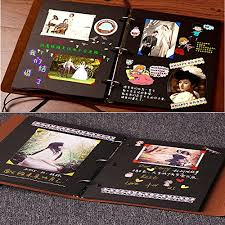 photo album black pages xiujuan scrapbook vintage leather black pages diy photo album